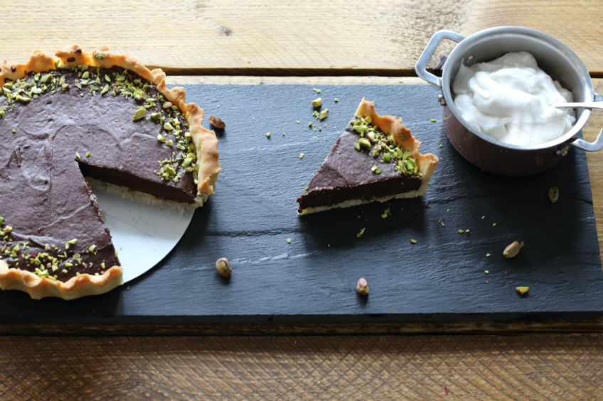 Image of ProWare's Salted Chocolate Vegan Tart for Wine Pairing