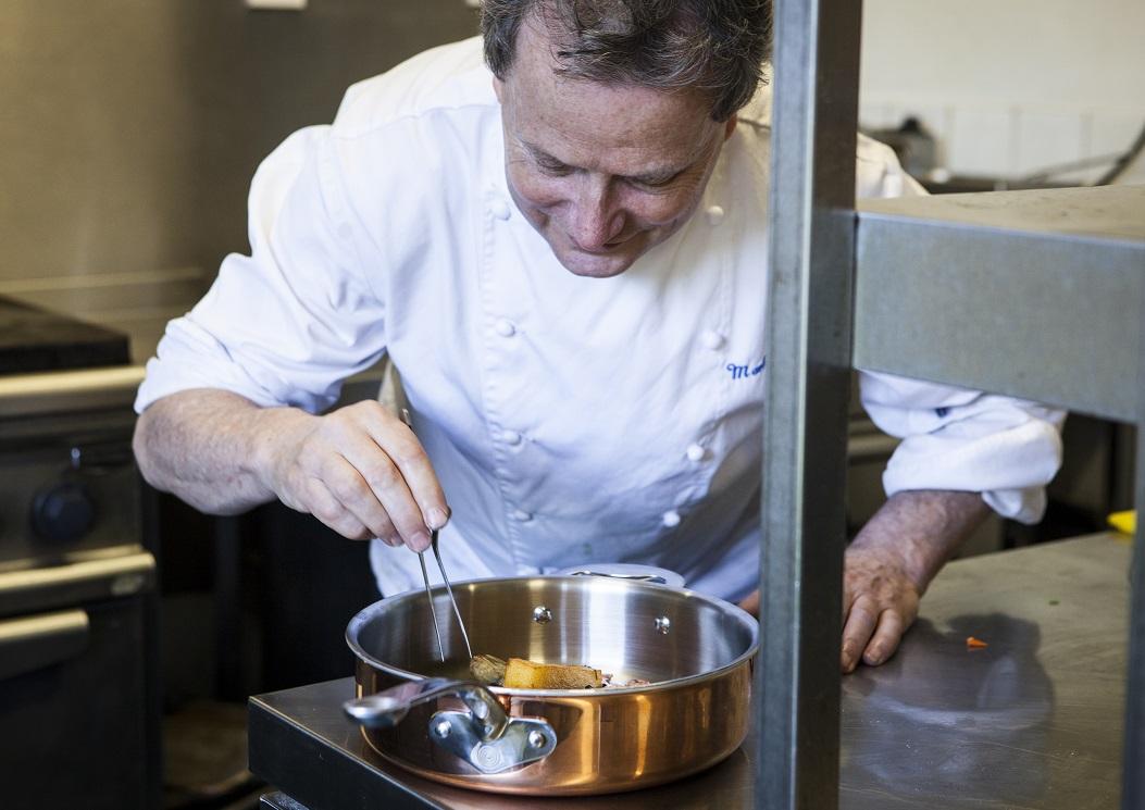 Mark Dodson Recipe Polenta Chips Baby Artichokes & Sauce Vierge